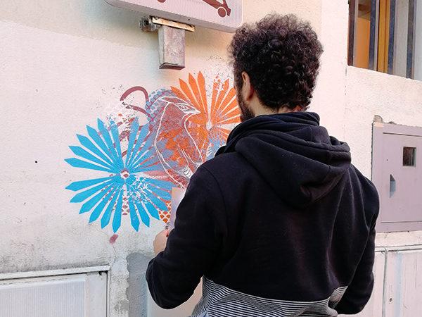 Stew pochoir street art Mouans Sartoux Côte d'Azur